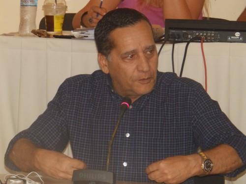 Ο αναπληρωτής δήμαρχος κ. Διονύσης Λυκούδης στο χθεσινό Δημοτικό Συμβούλιο